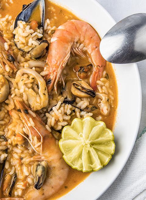 Arroz com frutos do mar