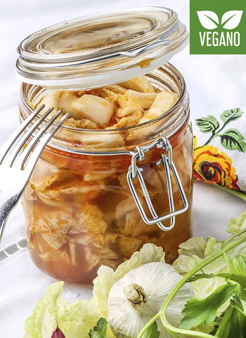 Pickled cabbage in vinegar