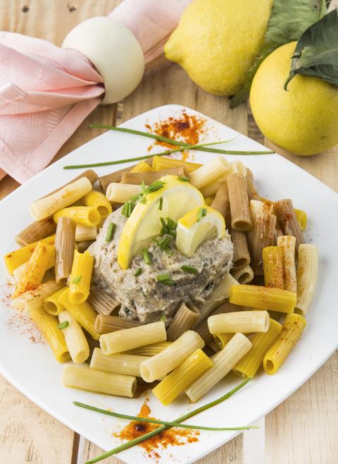 Pasta con mantequilla de sardinas
