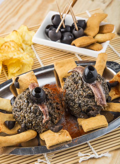Paté of black olives and anchovies