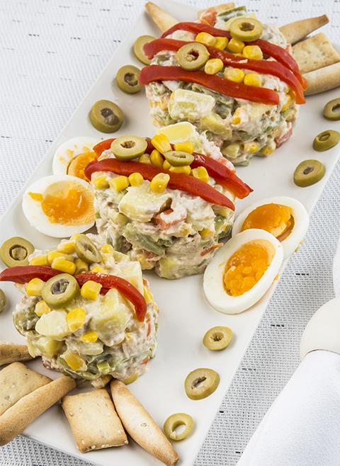 Gedämpfter russischer Salat Rezept