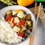 Gebratenes Gemüse und Tofu