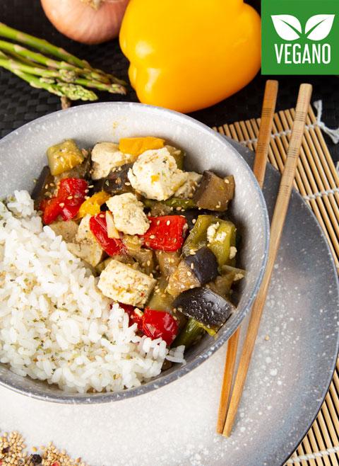 Соте из овощей и тофу